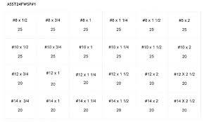 Phillips Head Screw Size Chart 95 20 Phillips Flat Head Wood Screw Assortment 535