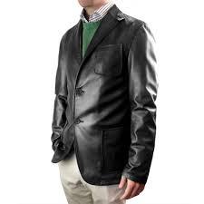 men s classic black blazer in nappa leather