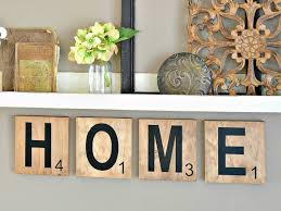 Scrabble Letter Wall Decor Amazoncom Free Shipping Home Large Scrabble Tiles 6 Inch