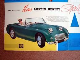 Austin Healey Color Chart Austin Morris 1958 1959 1960 Austin Healey Sprite Sales