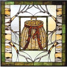 meyda tiffany 73909 adirondack basket tiffany hanging stained glass window art mey 73909
