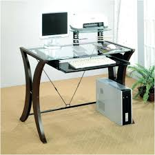 glass computer desk with keyboard tray new home design as well as fabulous table top glass