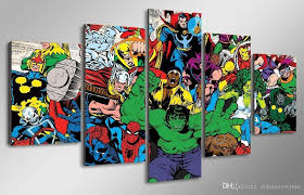 2018 5 panel hd printed marvel avengers hulk spider man painting throughout marvel canvas wall art on marvel spiderman canvas wall art 4 piece with 20 marvel canvas wall art wall art ideas