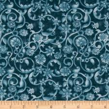 108' Tonal Scroll Quilt Backing Teal from @fabricdotcom This 108 ... & 108' Tonal Scroll Quilt Backing Teal Adamdwight.com