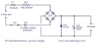 capacitor ac to dc out transformer how does this thing work enter image description here