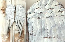 french inspired huge distressed wood angel wings white wing wall decor winsome furniture ideas