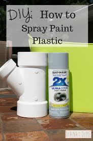 diy how to spray paint plastic