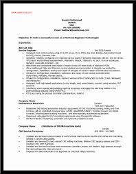 Cover Letter Example Electrician Resume Residential Electrician
