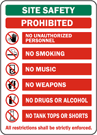 Site Safety Prohibited Sign G2600 By Safetysign Com