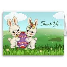 Thank You Easter Easter Bunny Baby Shower Thank You Notes Zazzle Com