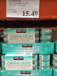 do you really know what you re eating new at costco whole a new item at costco whole in hackensack is chunk light skipjack tuna in water a dozen 7 ounce cans were 15 49 the tuna from thailand