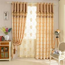 Living Room Curtain Design Beauteous 48 European Jacquard Blackout Curtains For Living Room Window