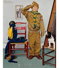 printing on canvas norman rockwell boy scout