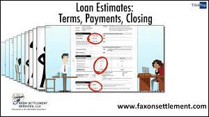 Loan Estimates Terms Payments Closing