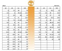 Timberland Size Conversion Chart Mens Shoes Size Chart