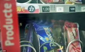 Snack Attack Vending Machine Adorable Mouse Filmed Nibbling On The Snacks Inside Barcelona Train Station