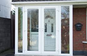white pvc sliding door draught porch