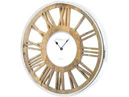 large round wooden wall clock round wooden skeleton wall clock