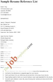 Reference Page Format Resume Super Cool Resume Reference Page