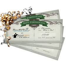 gift certificates printed