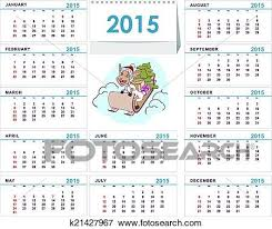 Calendar Format 2015 Desk Calendar 2015 Template Clip Art K21427967 Fotosearch