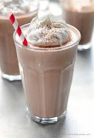 peanut er chocolate milkshake