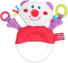 <b>Погремушка</b>-пищалка Happy Baby Funny Kitty, мультиколор