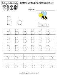 Practice Writing Letters Template Amazing Kindergarten Letter B Writing Practice Worksheet Printable Things