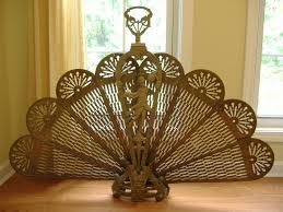 awesome brass fireplace screen antique screens vintage ideas 3
