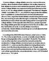 persuasive essay examples college athletes should get paid college athletes should get paid at com