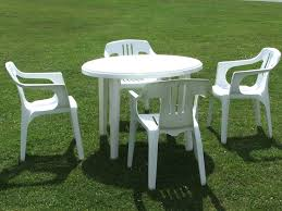 living lovely outside chair and table set 27 collection in white plastic patio chairs resin