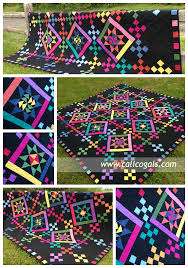 Image of bright, colorful quilt Old Friends quilt - Calico Girls ... & Image of bright, colorful quilt for the Major League Quilting competition -  free pattern if you register for their newsletter Adamdwight.com