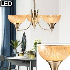 Led Decken Pendel Leuchte Alt Messing Antik Design Hänge Lampe Wohn Ess Schlaf Zimmer Kronleuchter