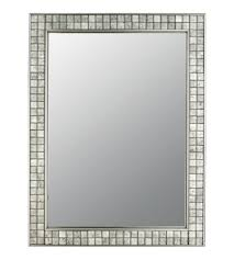 brushed nickel mirror. Quoizel VTCL43224BN Vetreo Clouds 32 X 25 Inch Brushed Nickel Wall Mirror