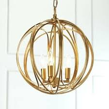 gold globe chandelier industrial chandelier with globe metal cage frame in gold 3 light silver and gold globe chandelier