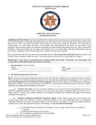 Sample Do Not Resuscitate Form Advance Medical Directives Tennessee Health Care Directive Forms 23
