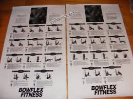 Bowflex Xtl Exercise Wall Chart 49 Rare Bowflex Poster