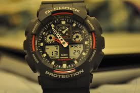 men s casio g shock alarm chronograph watch ga 100 1a4er watch click collect