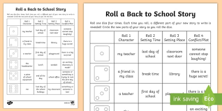 Roll A Back To School Story Storyboard Template Back To