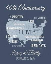 pas 40th anniversary gift personalized for husband wife wedding gifts pas 40th anniversary gift