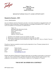 Request Proposal Email Rfp Cover Letter Template Note With Regard