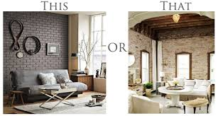 Inspired Design: Painted Brick vs Au Naturel