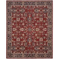safavieh artisan rust navy 8 ft x 10 ft area rug