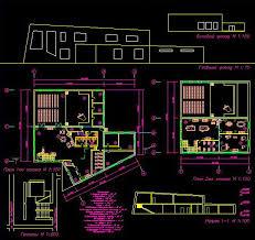Курсовой проект Клуб Архитектура Чертежи net stroi  Курсовой проект