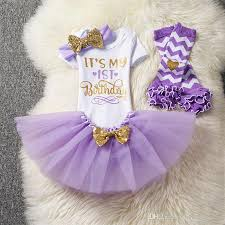 2019 Baby Girl Clothes 1st Birthday Cake Smash Outfits Suits Infant