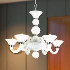 usa brand murano venetian style 6 light white blown glass chandelier 23