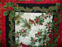 Acorn Ridge Quilting: Joyce's Christmas Panel Quilt & Ready for Christmas! Adamdwight.com