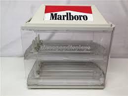 vintage acrylic marlboro cigarette display case transpa polished 2 layered