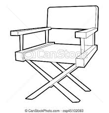 chair drawing easy. Film Director Chair Icon Drawing Easy T