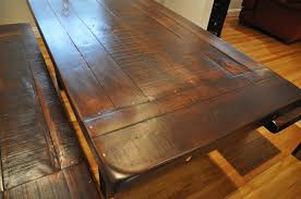 marble dining room table darling daisy: rustic dark wood dining room table darling and daisy